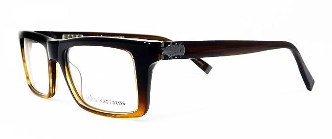 Amazon.com: John Varvatos Eyeglasses V346 V/346 Brown Optical Frame ...