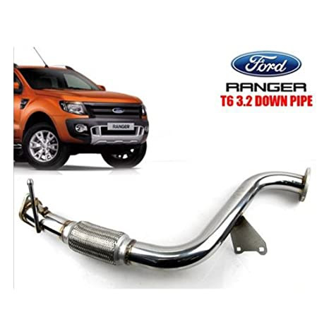 Turbo escape de acero inoxidable tubo vertical Ford Ranger Wildtrak T6 3.2L p5at 12 +