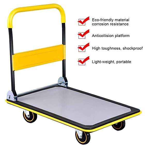 Amazon.com : ASdf Warehouse Load Folding Platform Trolley Large Capacity Carrying Manual Platform Trolley (Color : Blue) : Garden & Outdoor