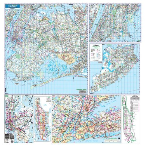 - Hagstrom NYC 5 Boro Wall Map Laminated (Five Borough New York City)