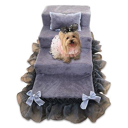 HYWJB Escaleras para Mascotas para Perros Desmontables 4 Pasos Escalera para Mascotas para Perros Camas para