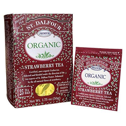 St. Dalfour Organic Tea - Strawberry - 25 (Tea Strawberry Tea)