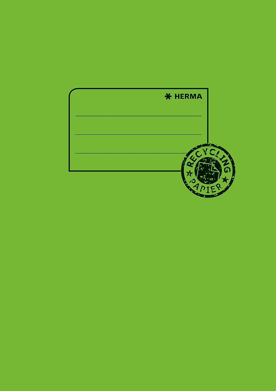 pink Herma 5524 Papier Heftumschlag DIN A4 aus 100/% Altpapier 1 Heftschoner f/ür Schulhefte