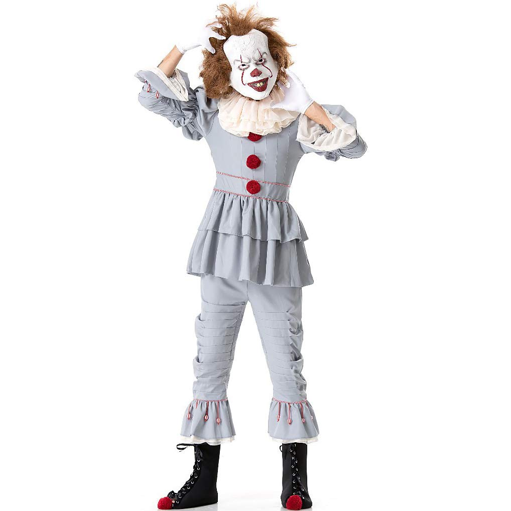 CNHK Halloween-Kostüm, Clown-Verjüngung Masquerade Performance-Kostüm, Rollenspiel Uniform Eine Größe