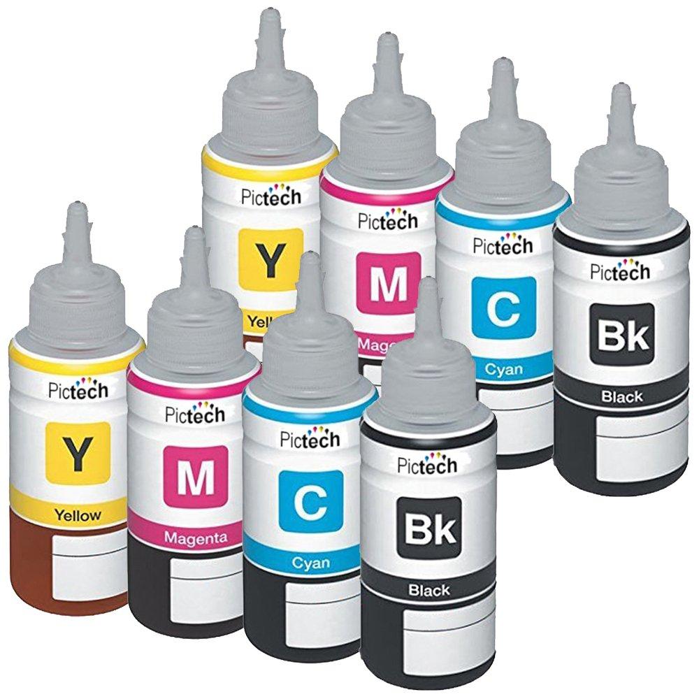 Pictech Compatible Refill Ink Bottle Replacement For Epson T6643 Printer L310 L 310 Ecotank L100 L110