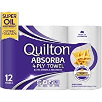 Quilton Absorba Paper Towel Rolls, Pack of 12