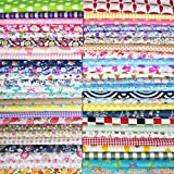 Misscrafts 200 PCS 6 x 6 inches Cotton Fabric