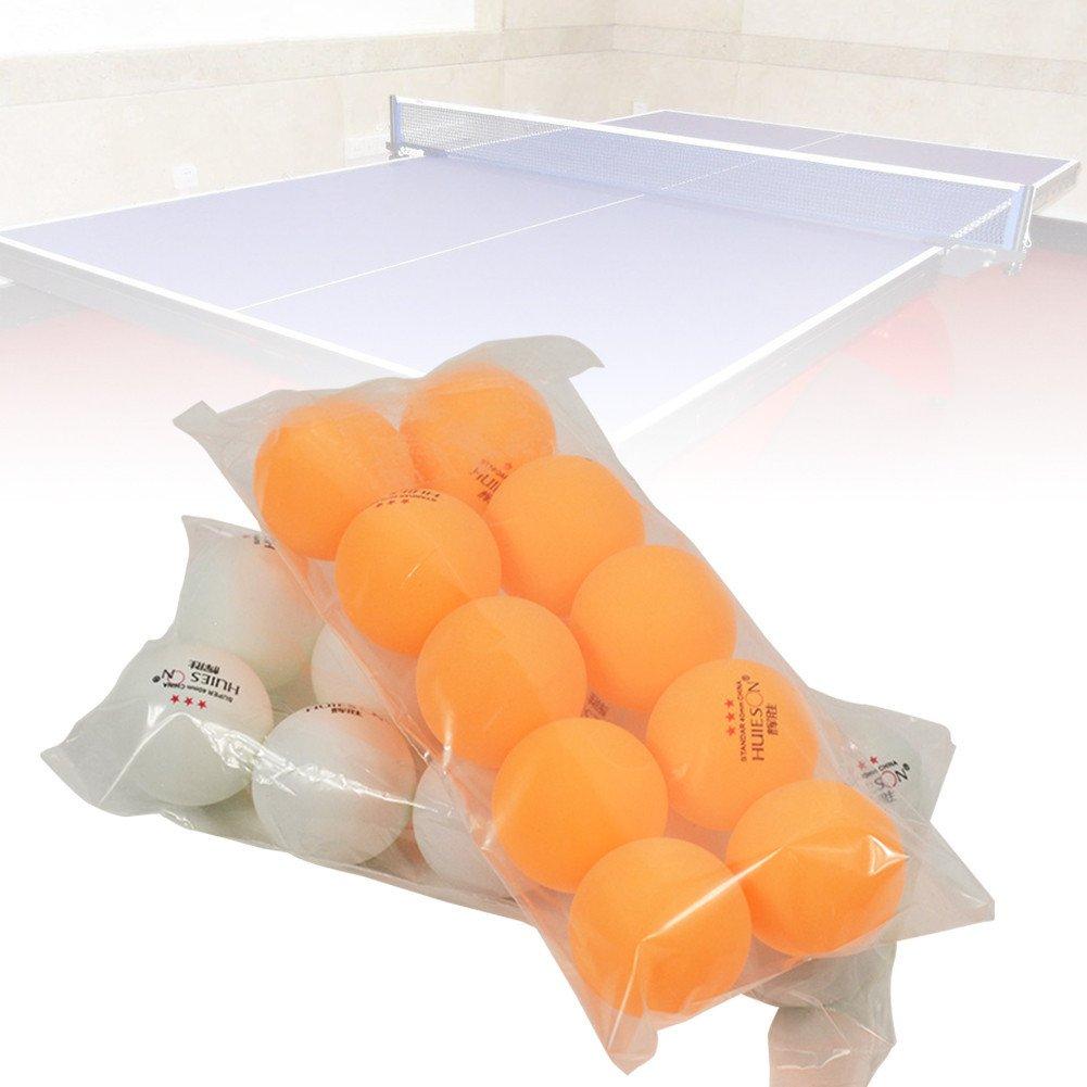 Fancyland Balle tennis de table,10 pcs professionnel balle de tennis de table 40mm diamètre 2.9g 3 étoiles boules de ping-pong pour la formation de la concurrence faible pirce