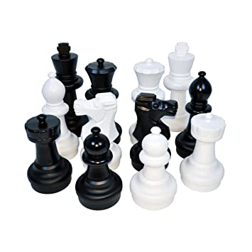 Kettler Giant Chess Pieces Complete Set With 25 Inches Tall King   White  And Black