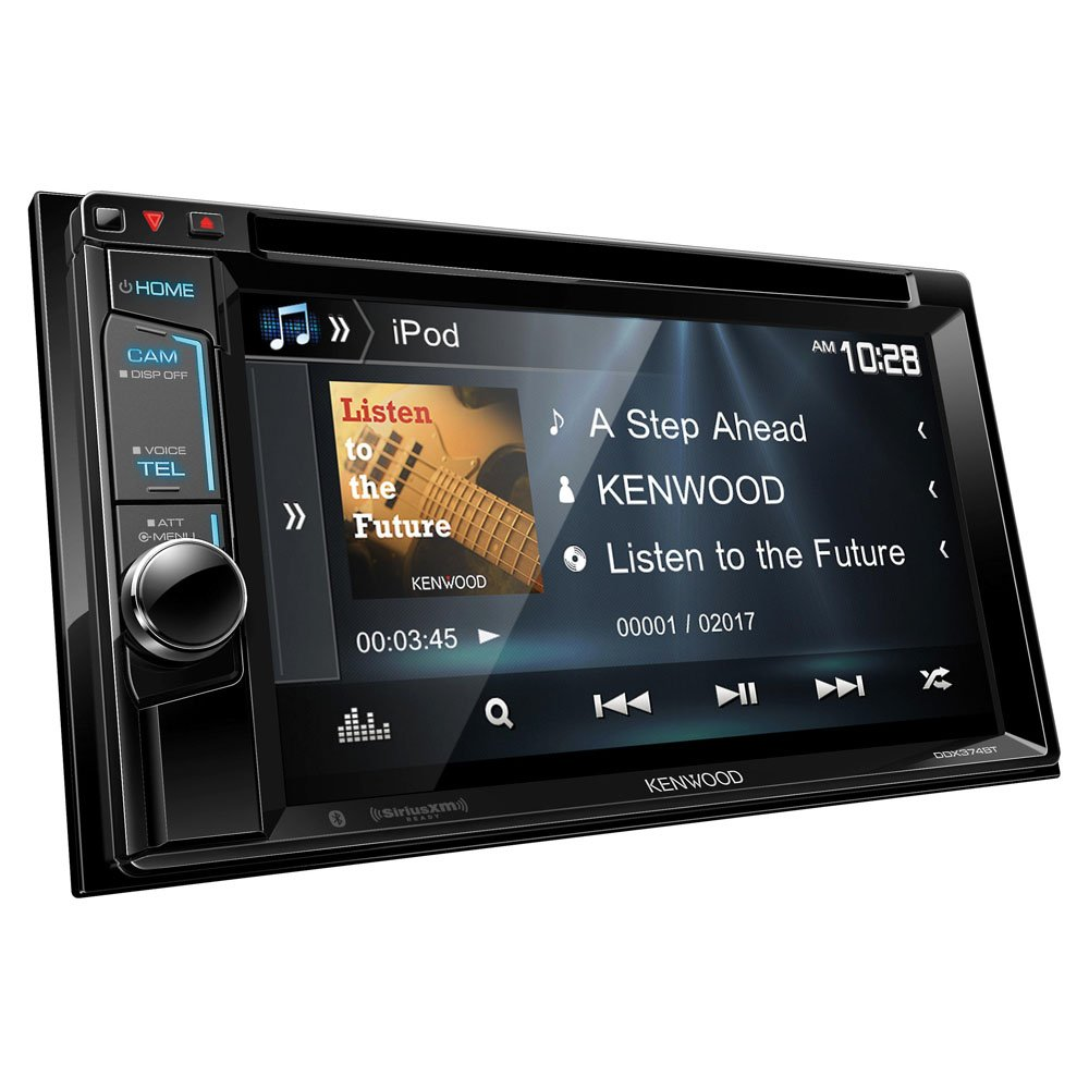 """Amazon.com: Kenwood DDX374BT 2-DIN Bluetooth in-Dash CD/DVD/DM Receiver  with 6.2"""" Touchscreen: Cell Phones & Accessories"""