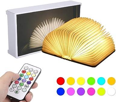 Libro Lámpara,Tomshine Mini Lámpara Lectura Libro,12 Colores y 5 ...