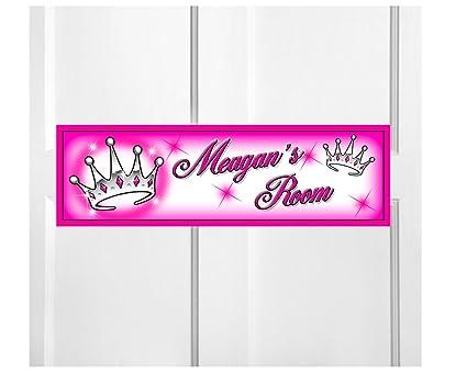 Amazon.com: Onestopairbrushshop Personalized Kids Room Door ...