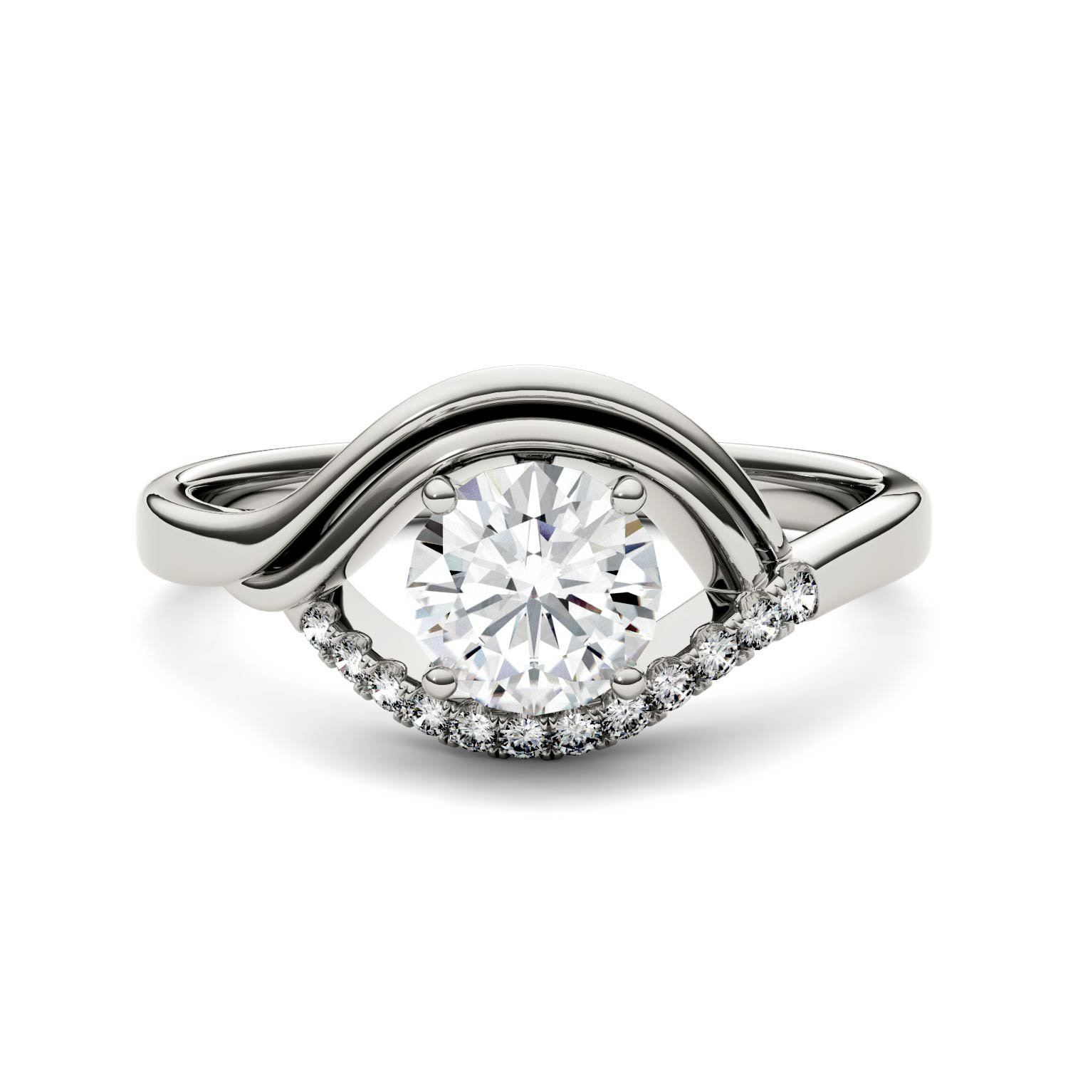 Forever Brilliant Round 6.0mm Moissanite Ring-size 6, 0.92cttw DEW By Charles & Colvard