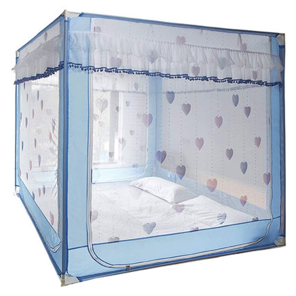 ダストトップ蚊帳ジッパードロップ子供1.5 / 1.8メートルベッド2メートル家庭用蚊帳暗号化肥厚王女の風 (Color : A, Size : 1.2m bed) 1.2m bed A B07SMY7MB9