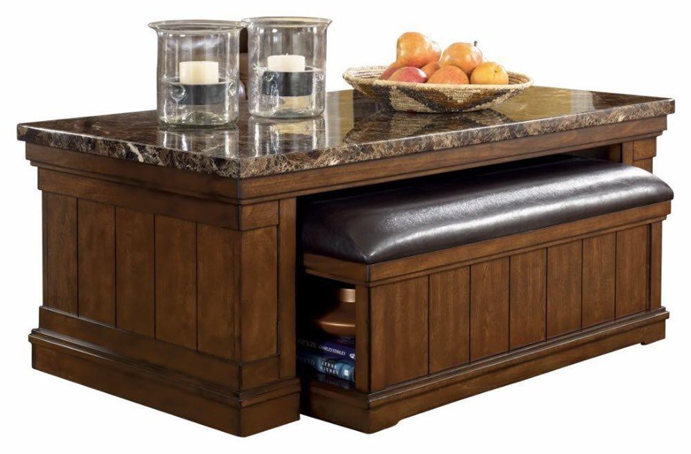 Ashley Furniture Signature Design - Merihill Coffee Table - Rectangular - Medium Brown