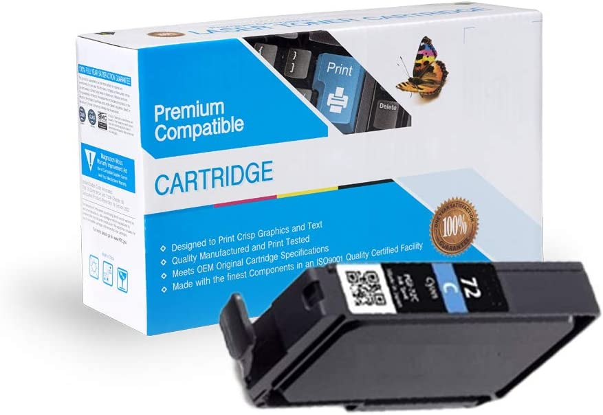 Cyan, 2 Pack MS Imaging Supply Compatible Inkjet Cartridge Replacement for Canon PGI-72CY