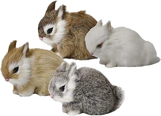 Estatuas De Conejo De Peluche Figuras De Animales De Jardín Decoraciones Para Césped, Patio, Patio, Jardín, Calzada O Calzada: Amazon.es: Jardín