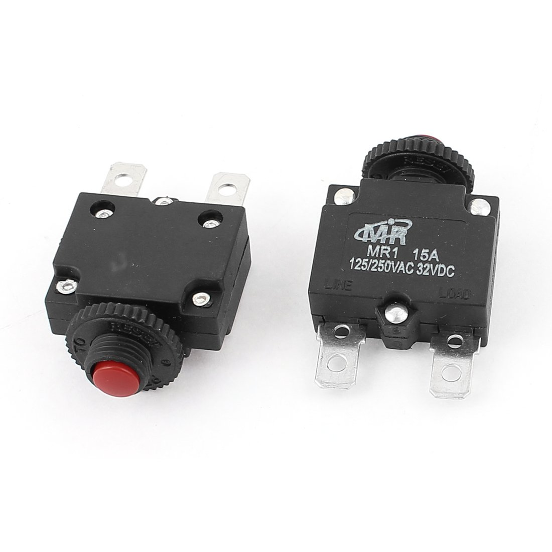 Ac 125 250v Dc 32v 15a Push Button Reset Terminal Circuit Breaker Types Video Different Of Breakers Ehow 2pcs