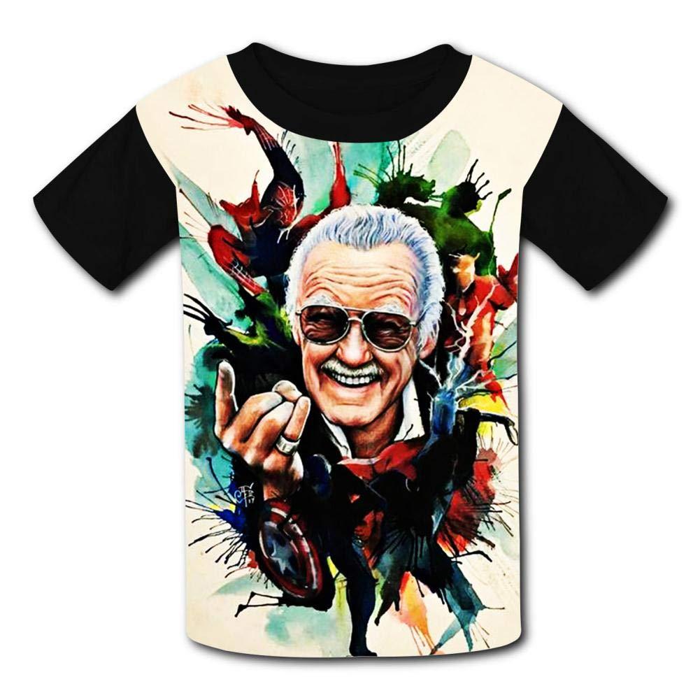 Kid//Youth Shirts Aver-ger Stan-Lee Girls Tee Shirt Boys Short Sleeve Teenager T-Shirts Top