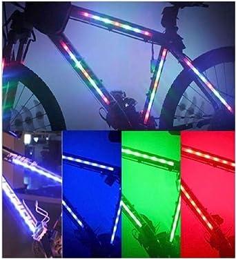 Kit de 2 tiras LED RGB a pilas para bicicleta o bicicleta de ...