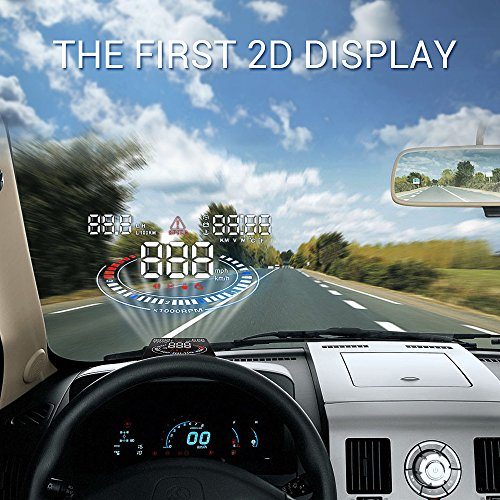 Techstick 5.5 inch E300 HUD Multi-color Screen Head Up Display Car OBD2 ,EUOBD with 2D Vision