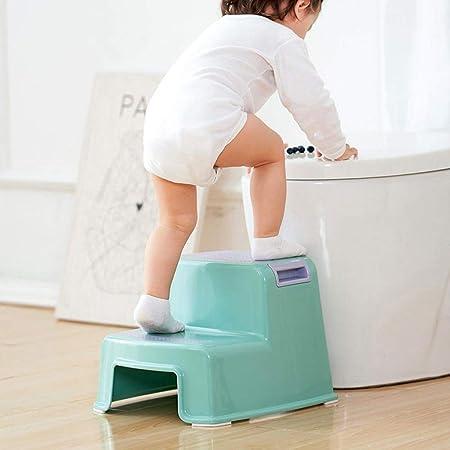 ANZML Taburete De Plástico para Niños Lavabo Reposapiés Pequeño Banco De Banco Escalera Antideslizante Escalón Escalón Taburete Escalón Taburete A-33 * 36 * 27CM: Amazon.es: Hogar