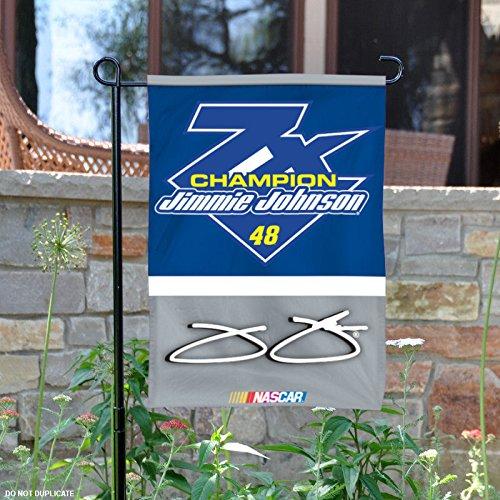 - Jimmie Johnson #48 2016 7x Champions 2-Sided GARDEN Flag Banner Nascar Racing