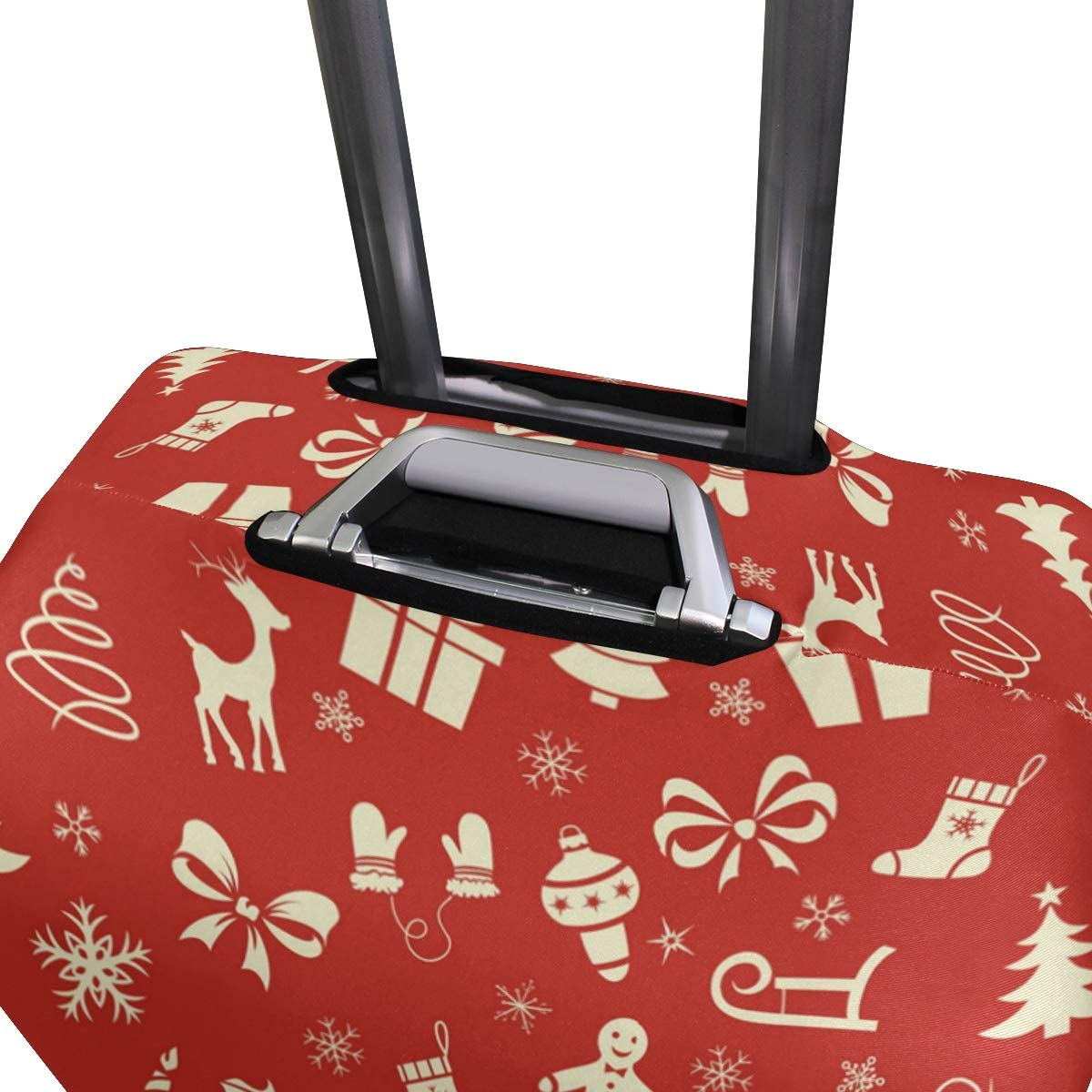 Various Red Christmas Presents Travel Luggage Protector Case Suitcase Protector For Man/&Woman Fits 18-32 Inch Luggage