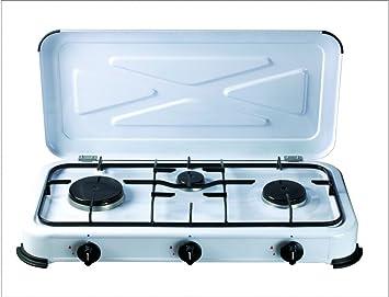 Cocina portatil de gas 3 fuegos: Amazon.es: Bricolaje y ...