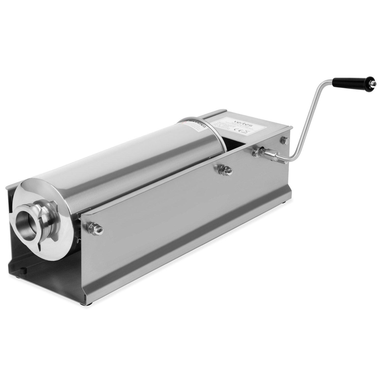 Vertes 7L Macchina insaccatrice per salsicce in Acciaio inox (4 Inbuti in Inox Ø 16, 22, 32, 38 mm, 2 Velocità, 3 Guarnizioni)