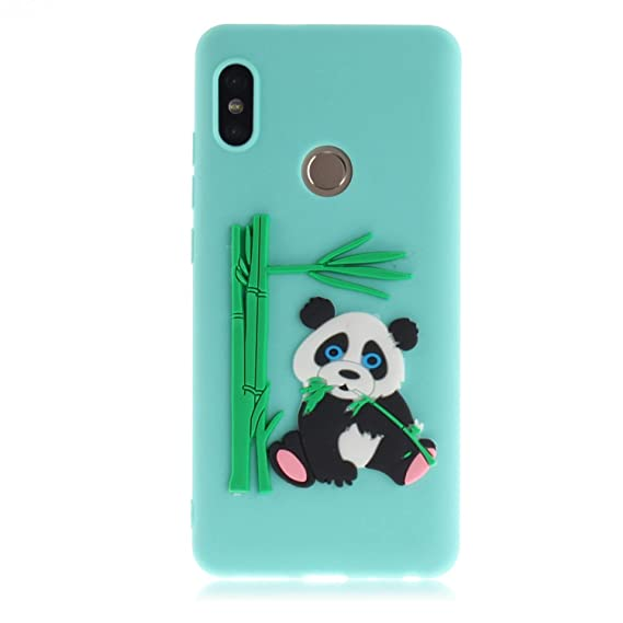 promo code fb31e 77f0b Amazon.com: AIIYG DS,Xiaomi Redmi Note 5 Pro Rubber Case,Panda ...