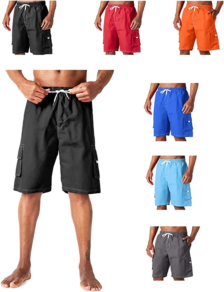 Kyopp Men's Swim Trunks Quick Dry Beach Shorts Bathing Suits with Pockets