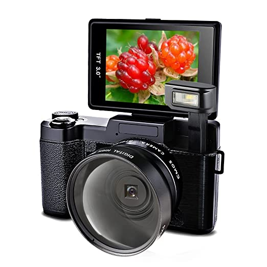 5 opinioni per Videocamera Camera Full HD 24.0MP Fotocamera 1080p Digitale Camera Con 52MM