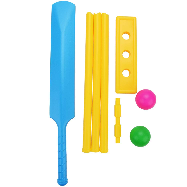 Fansport Cricket Set for Kids, Beach Cricket Equipment, Kwik Cricket, Creative Sports Game Set Ball Game Set for Backyard, NBR Rubber Water Proof Contents Bat, Ball, Stumps, Bail