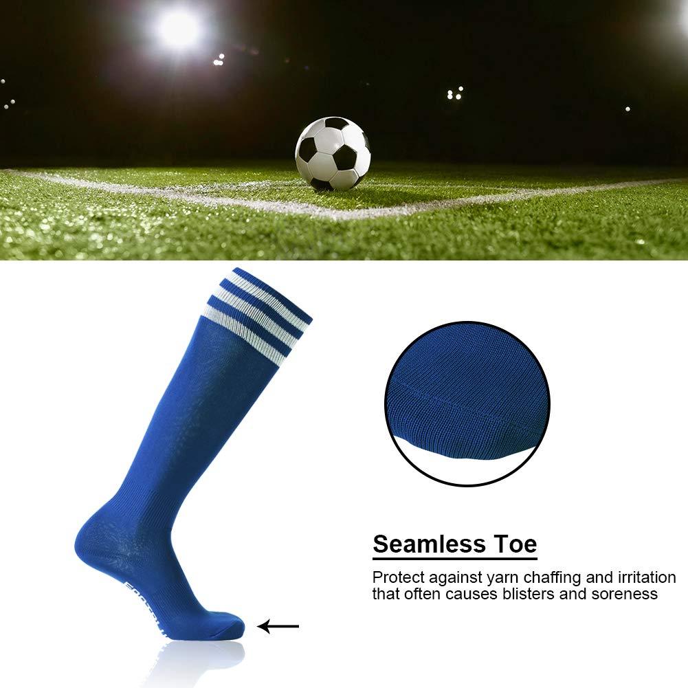 FOOTPLUS Unisex Knee High Triple Stripe Football Socks Soccer Socks 2//6//10 Pairs FP0006-1