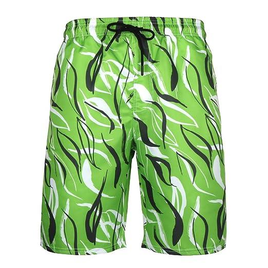 51d0605d24 Simayixx Sport Shorts Big and Tall Men Swim Briefs Trunks Hawaii Print  Board Short Pants Athletic