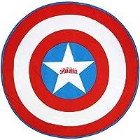Cerdá 2200003996 Toalla Redonda Avengers Capitan America, Rojo