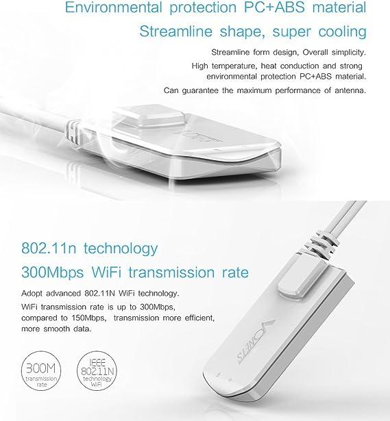 VONETS VAP11N-300 - Mini receptor Wi-Fi para cámaras Dreambox, Xbox, PS3 y IP (300 Mbit/s)