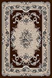 Brown Green Beige Floral 5×7 (5'2×7'2) Area Rug Oriental Carpet Large New 662 Review