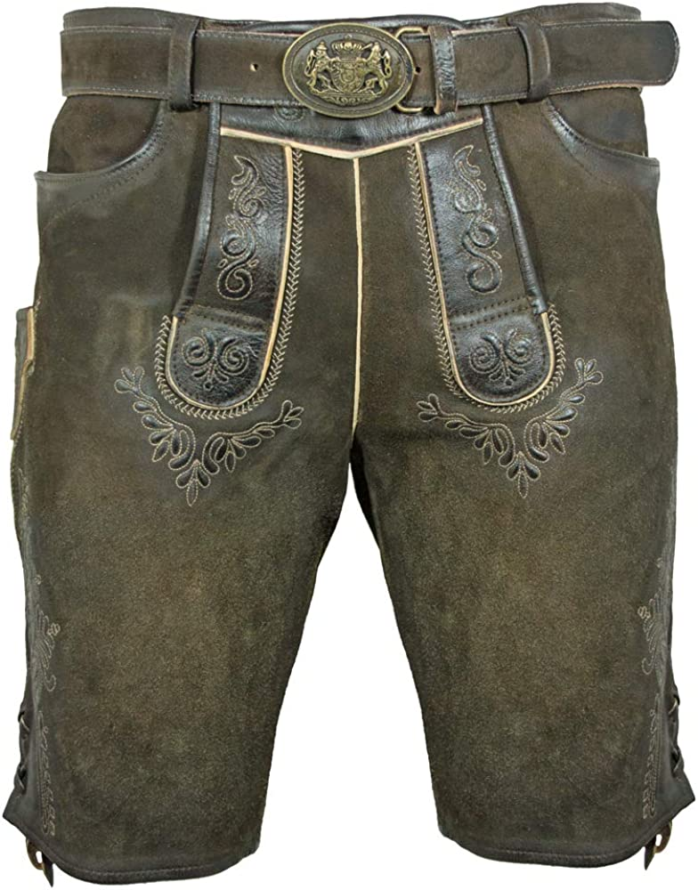 Maddox Short Pants Herbert with Belt-Antique Reut-Oktoberfest AUB