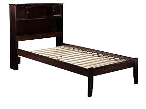 Atlantic Furniture Newport Platform Bed with Open Foot Board, Twin XL, Espresso