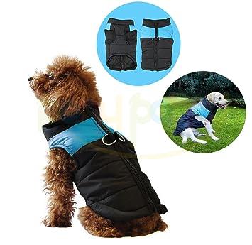 Abrigo impermeable para perro, acolchado de forro polar, ideal para el otoño y