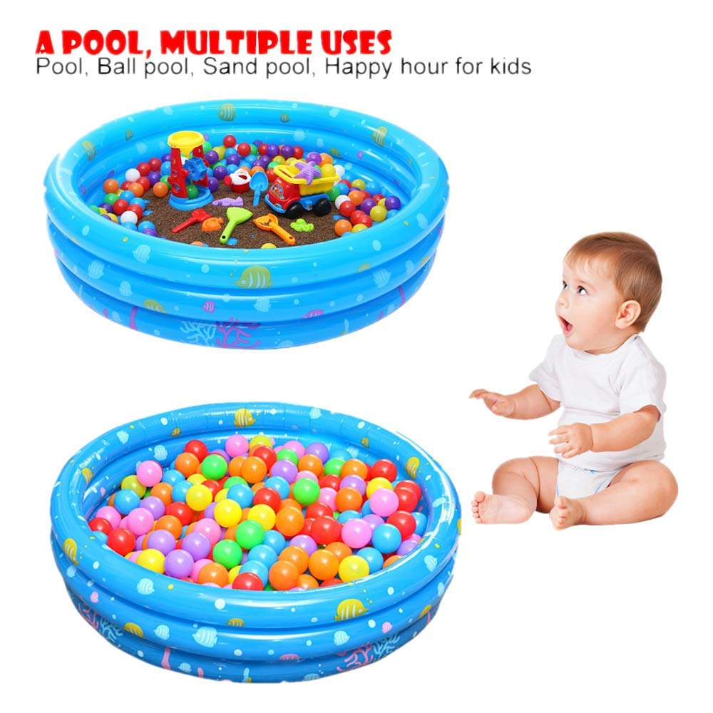 Amazon.com: Piscina inflable circular de tres anillas ...