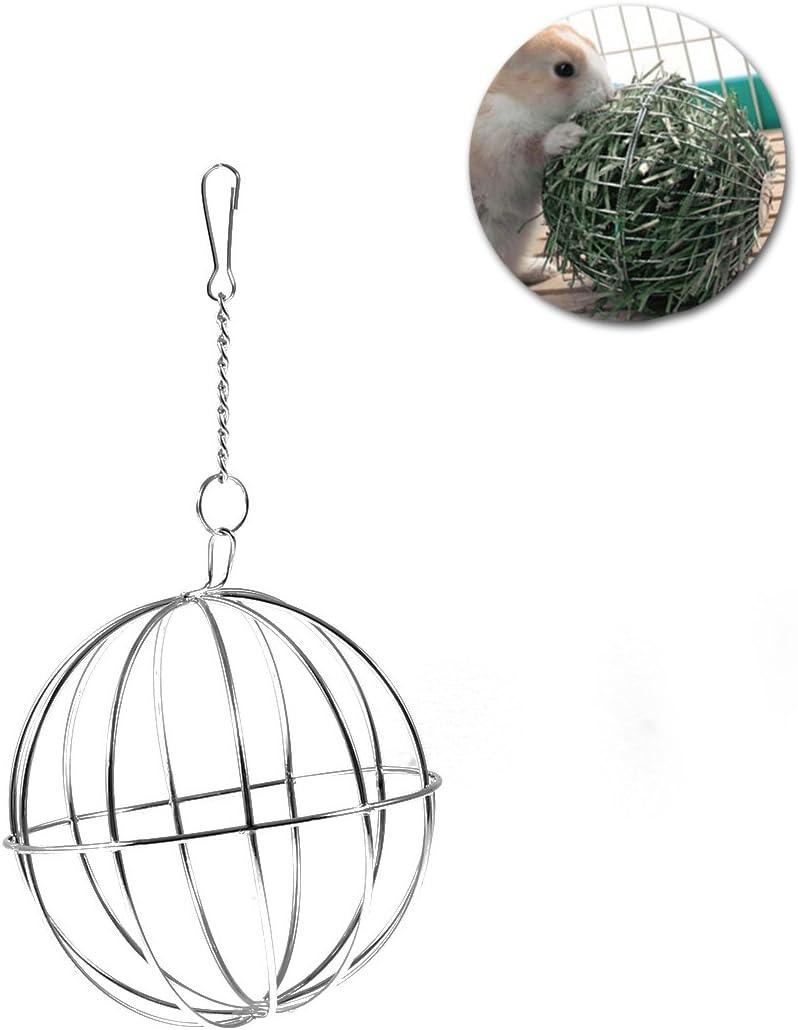 UEETEK 8 cm Esfera Tratar Conejillo de Indias de Conejo hámster Rata dispensador de alimentación Juguete Bola Colgante para Mascotas