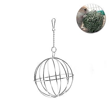 UEETEK 8 cm Esfera Tratar conejillo de Indias de conejo hámster rata dispensador de alimentación juguete bola colgante para mascotas: Amazon.es: Productos ...