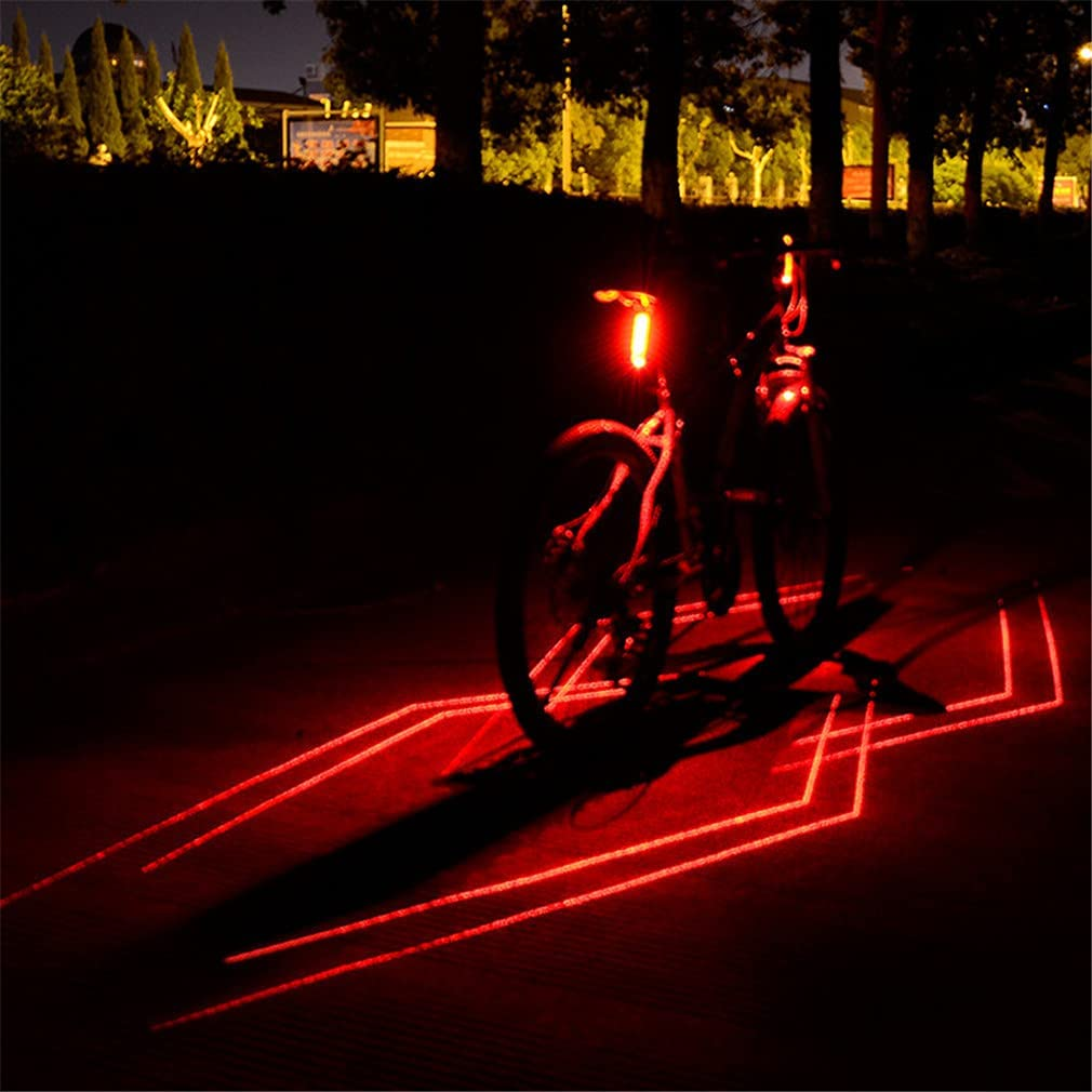 Details about  /USB Rechargeable Bicycle Light Folding Laser Bike Light Front Rear Safety
