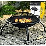 Round Fire Pit Folding Patio Garden Bowl Outdoor Camping Patio Heater Log BBQ Kotlich
