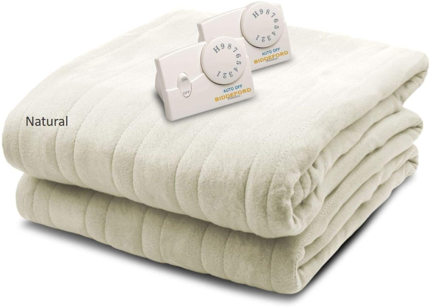 Biddeford Blankets Comfort Knit Heated Blanket, Queen, Natural: Home & Kitchen