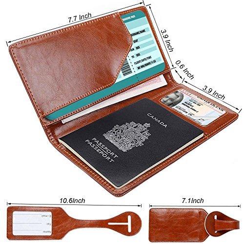 fd9464437427 XeYOU Passport Holder Travel Wallet - Premium Vegan Leather RFID Blocking  Passport Case Cover - Securely Holds Passport, Business Cards, Credit Cards