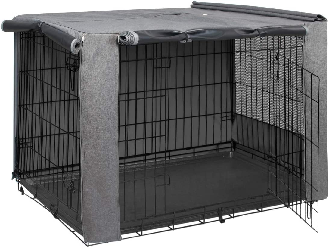 and Adjust Morezi Dog Crate Cover for Wire Crates Take Off Easy to Put On Fits Most 36 inch Dog Crates Cover only